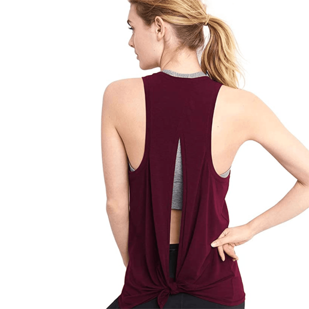 Maroon Ignite Tank, back view