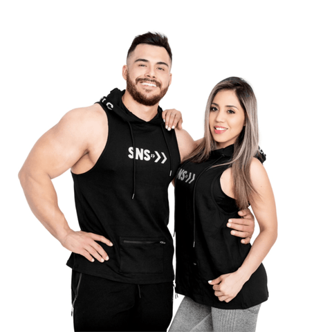 START NON STOP SLEEVELESS HOODIE - byCRUZ