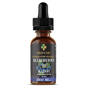 1000mg cbd blueberry tincture no thc- Gold Care CBD