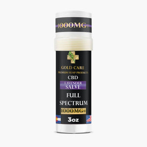 1000 mg+ Full Spectrum Infused Lavender Salve  - Gold Care Premium Hemp Products - Gold Care CBD