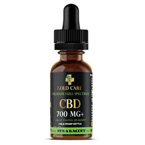 Gold Care Full Spectrum Spearmint Tincture - Gold Care CBD
