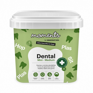 moments snacks dentales para perros
