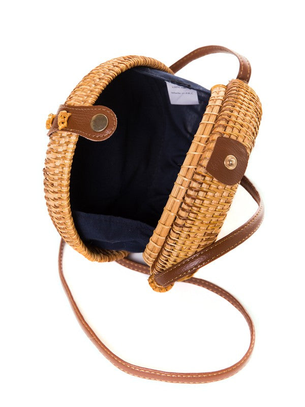 In Loom | Handmade Rattan Cross Body Bag