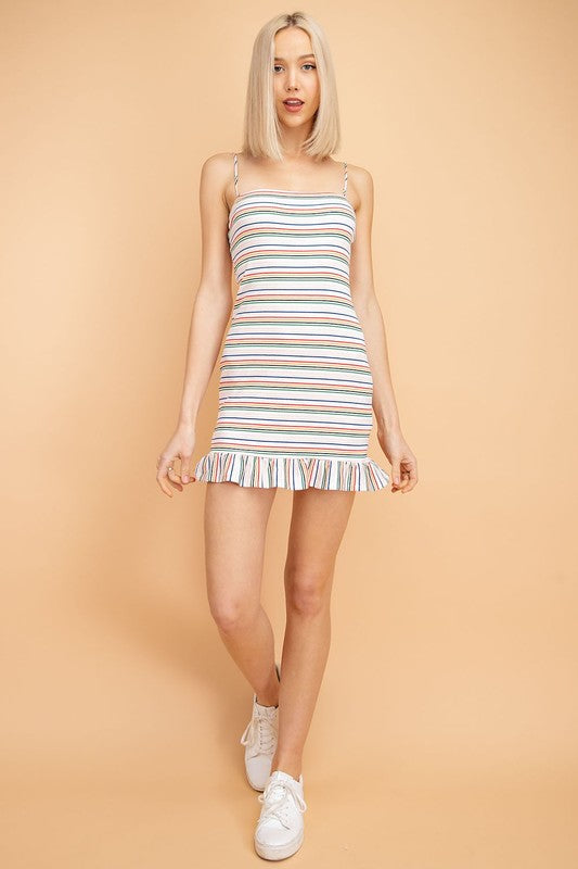 Le Lis | White Stripe Bodycon Dress