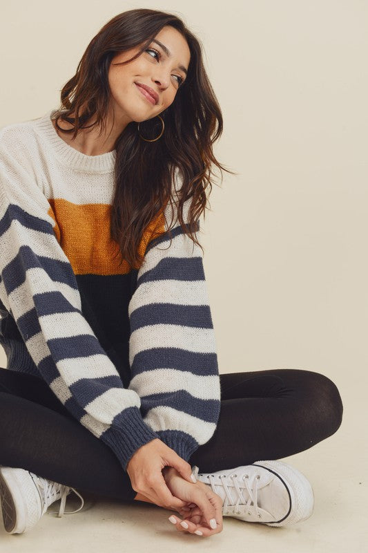 Doe & Rae | Color Block Sweater