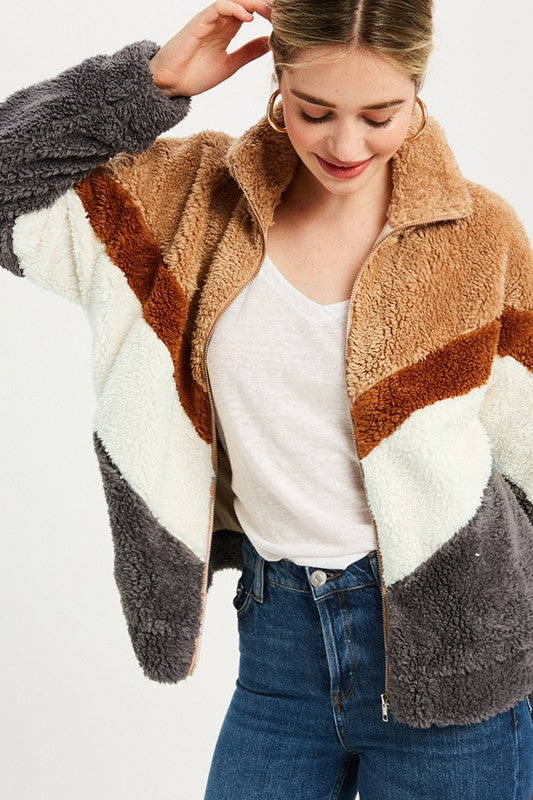 Wishlist | Chevron Fur Jacket