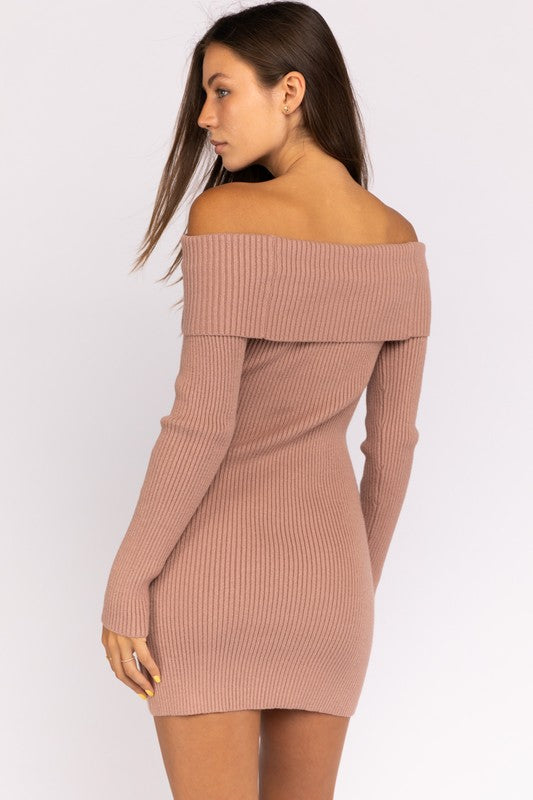 Le Lis | Off Shoulder Knit Bodycon Dress