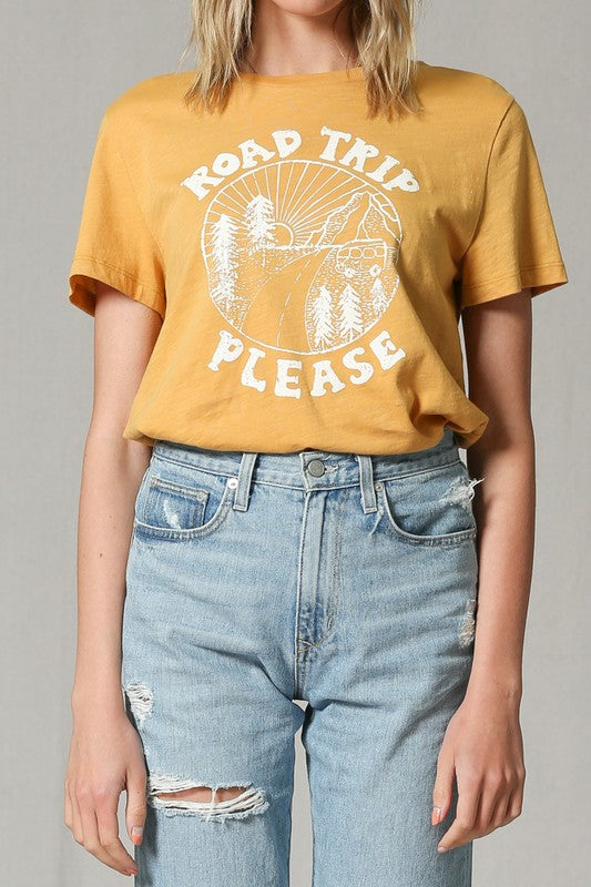Blank Paige | Yellow Road Trip Please Graphic T-Shirt