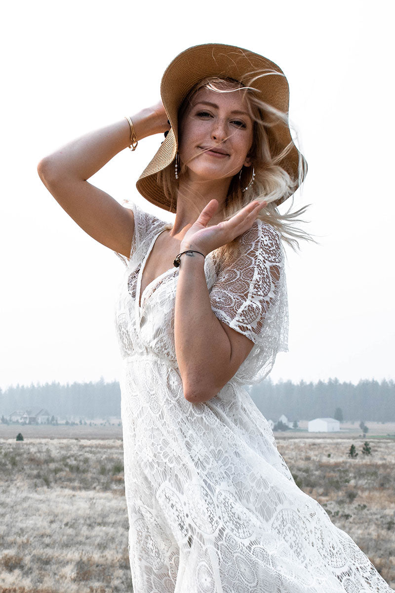 Lush | White Lace Overlay Dress