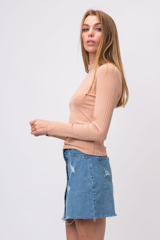 Cozy Casual | Guinevere Top | Ribbed Mock Neck (3 Colors)