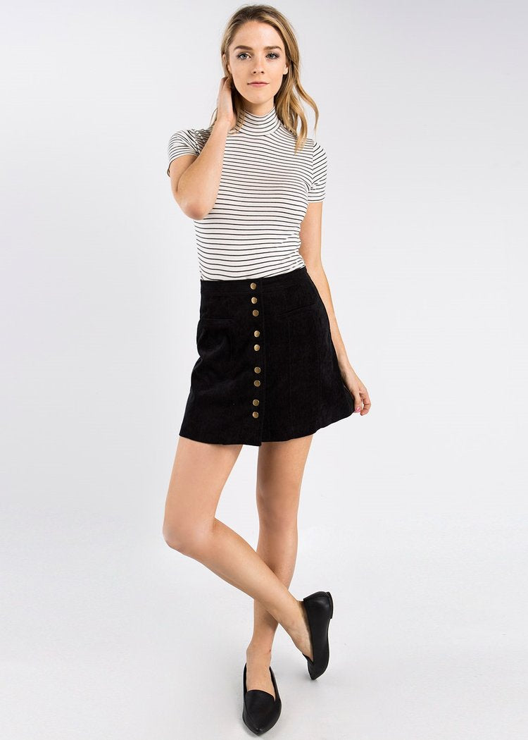 Fore | Corduroy Button Down Mini Skirt (2 colors)