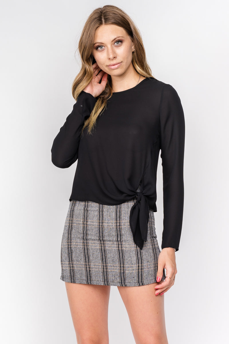 Fore | Plaid Woven Mini Skirt