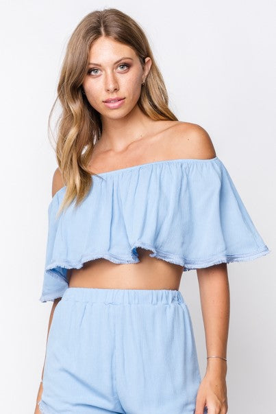 Fore | Woven Off The Shoulder Top