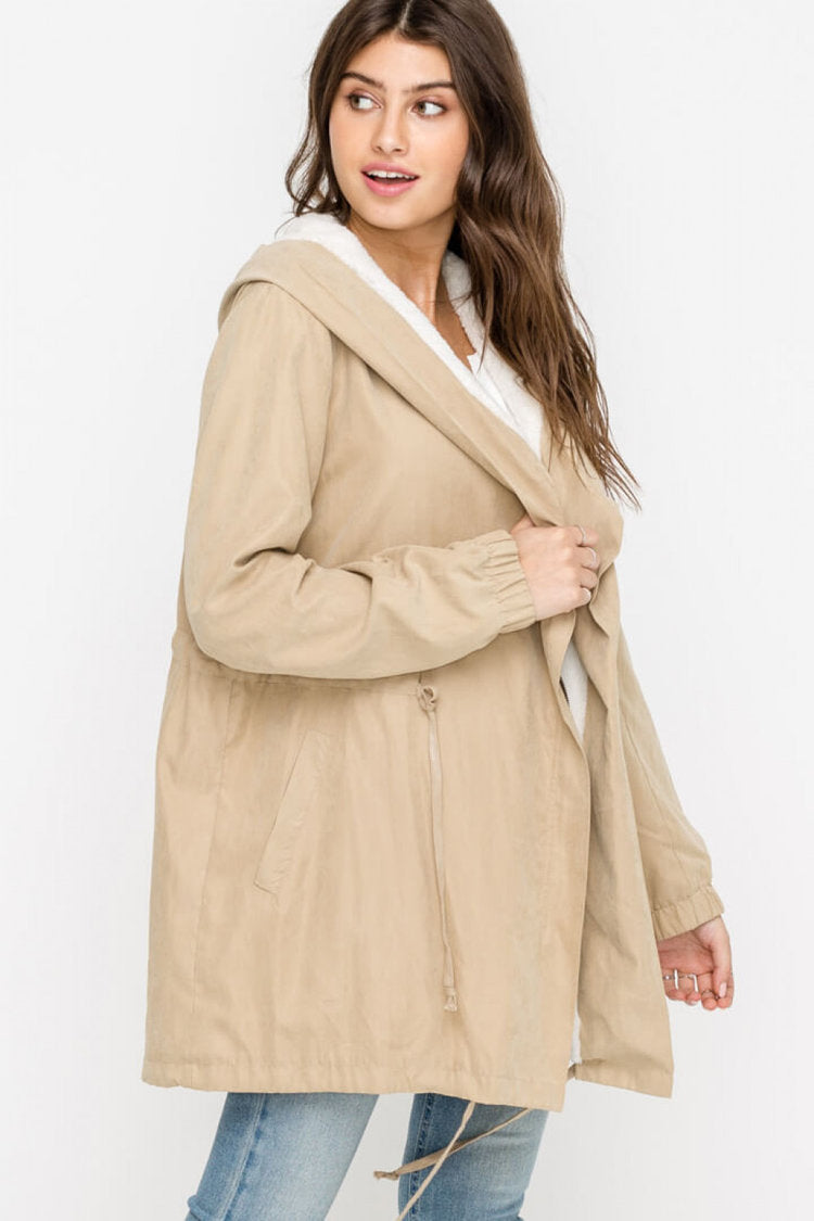 Lush | Drawstring Trench Coat