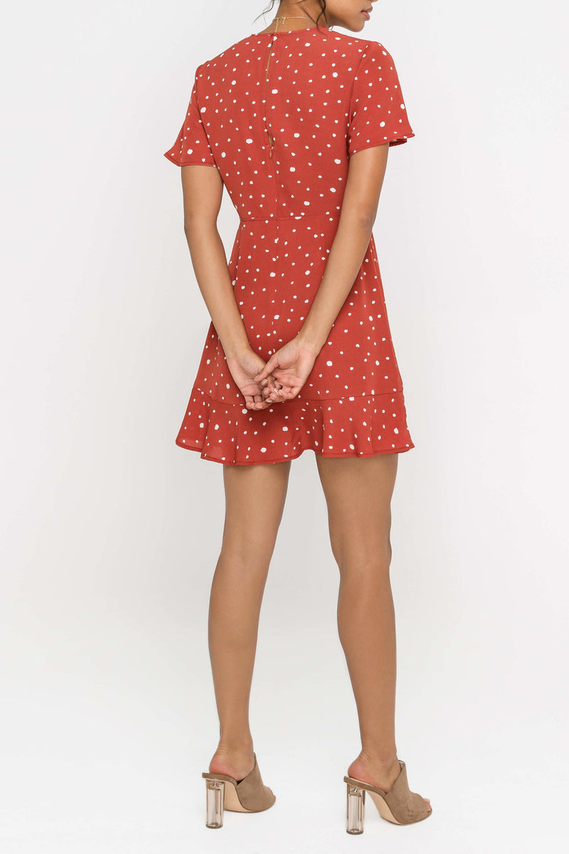 Lush | Red Polka Dot Dress