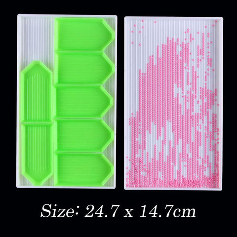 Plastic Rhinestones Beads Tray for Diamond Painting