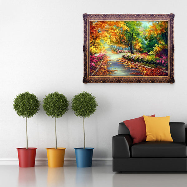 Autumn Scenery 5D DIY Partial Drill Round Drill Diamond Painting