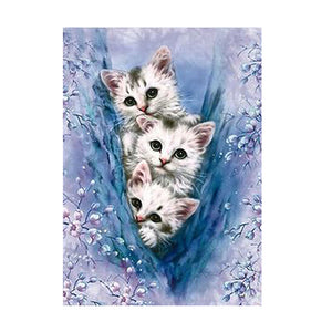 Cats DIY Partial Drill Round Drill Diamond Painting