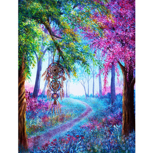 Dreamcatcher Forest 5D DIY Partial Drill Round Drill Diamond Painting