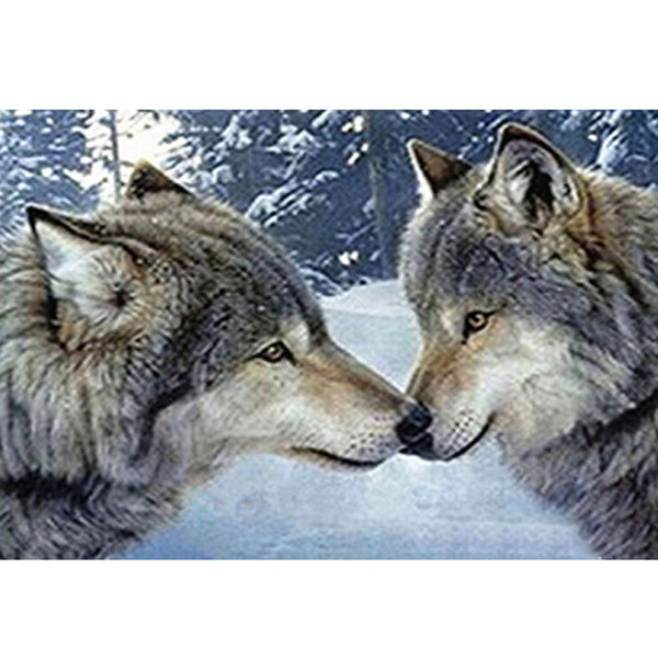Wolves 5D DIY Full Drill Round Drill Diamond Painting