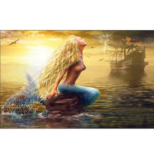 Mermaid DIY Full Drill Round Drill Diamond Painting