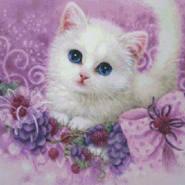 Cute Little Cat 5D Partial Drill DIY Diamond Painting Craft Kit Home Decor