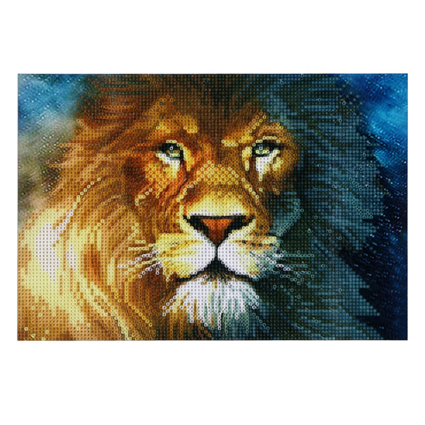 Lion 5D DIY Round Drill Partial Drill Diamond Painting