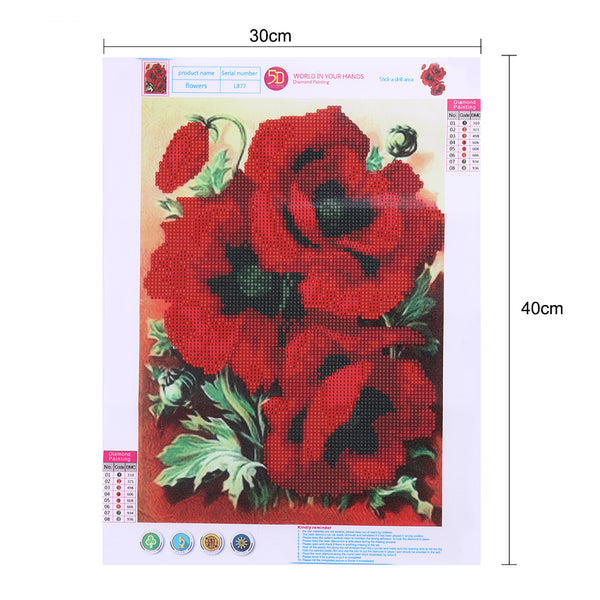 Red Rose DIY Partial Drill Round Drill Diamond Painting