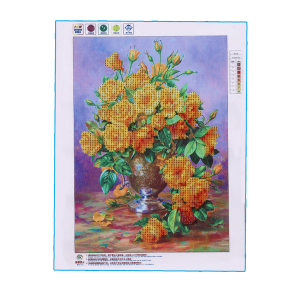 Flowers 5D DIY Partial Round Drill Diamond Painting Craft Home Decor