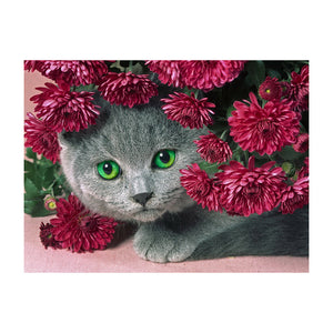 Cute little Cat 5D DIY Partial Drill Round Drill Diamond Painting