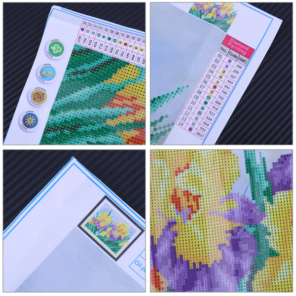 Flower DIY Partial Drill Round Drill Diamond Painting