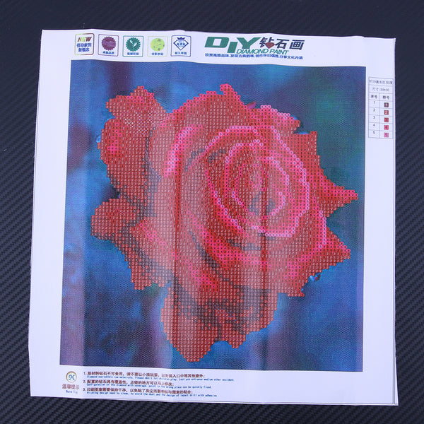Drip Rose 5D DIY Partial Drill Round Drill Diamond Painting