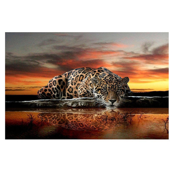 Leopard 5D DIY Partial Drill Round Drill Diamond Painting