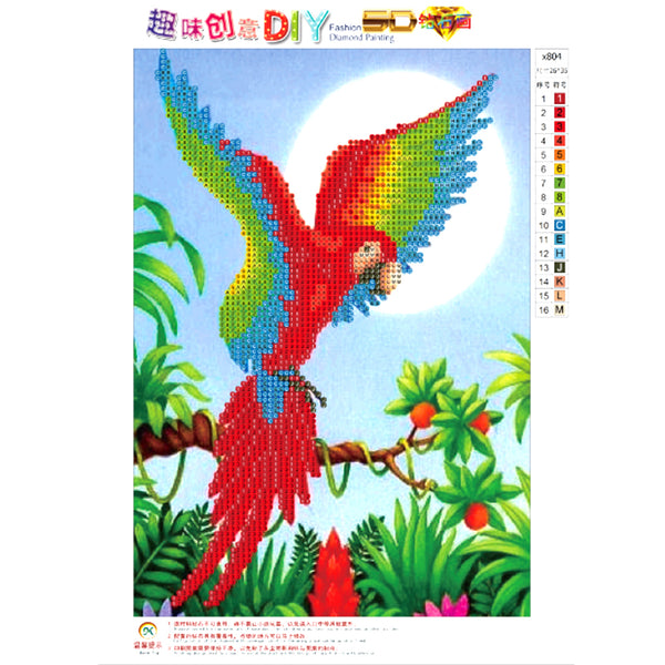 Parrot DIY Partial Drill Round Drill Diamond Painting