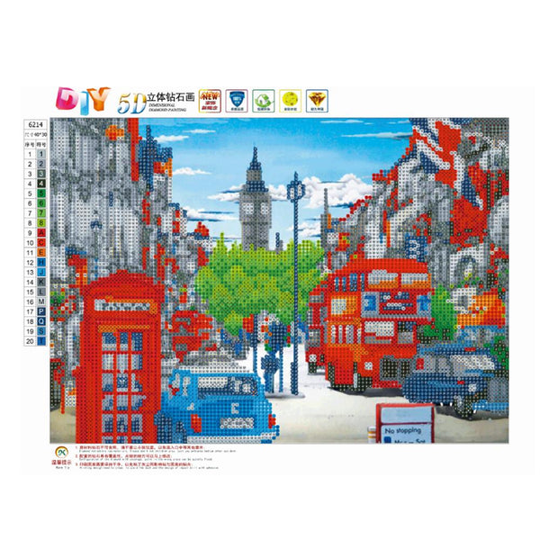 City Street Car 5D DIY Partial Drill Round Drill Diamond Painting