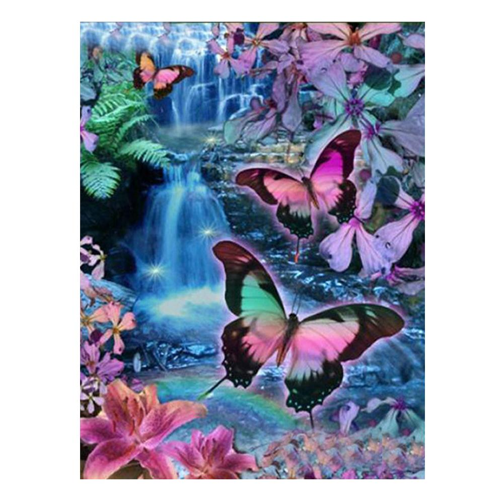 Butterfly 5D DIY Partial Drill Round Drill Diamond Painting