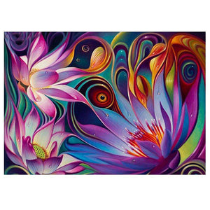 Abstract Flower 5D DIY Full Drill Round Drill Diamond Painting Decor