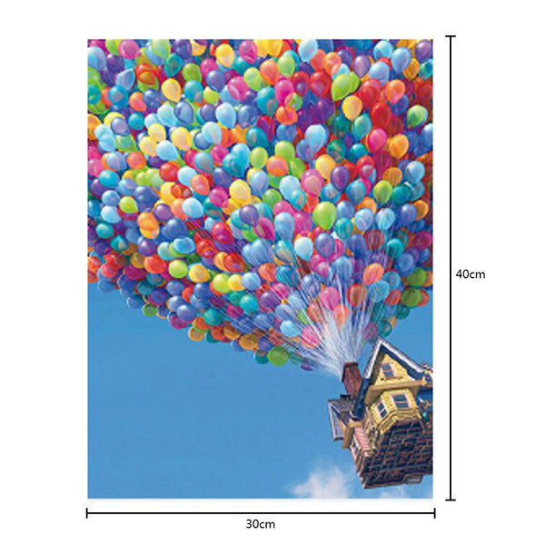 Hot Air Balloon House DIY Partial Drill Round Drill Diamond Painting