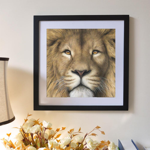 Lion 5D DIY Partial Drill Round Drill Diamond Painting