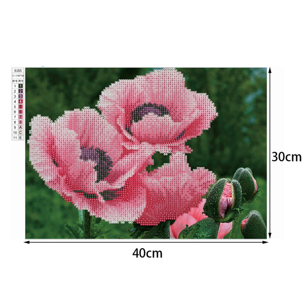 Blooming Flower 5D DIY Partial Drill Round Drill Diamond Painting