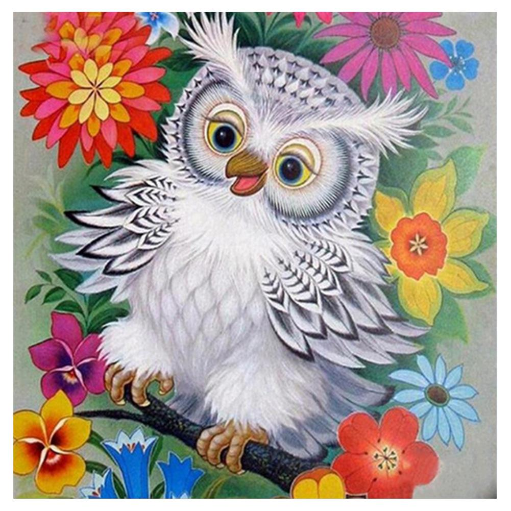 Bird 5D DIY Partial Drill Round Drill Diamond Painting
