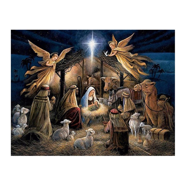 Religion Nativity of Jesus 5D DIY Partial Drill Round Drill Diamond Painting