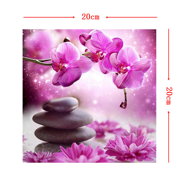 Flower and Stones 5D DIY Full Drill Round Drill Diamond Painting