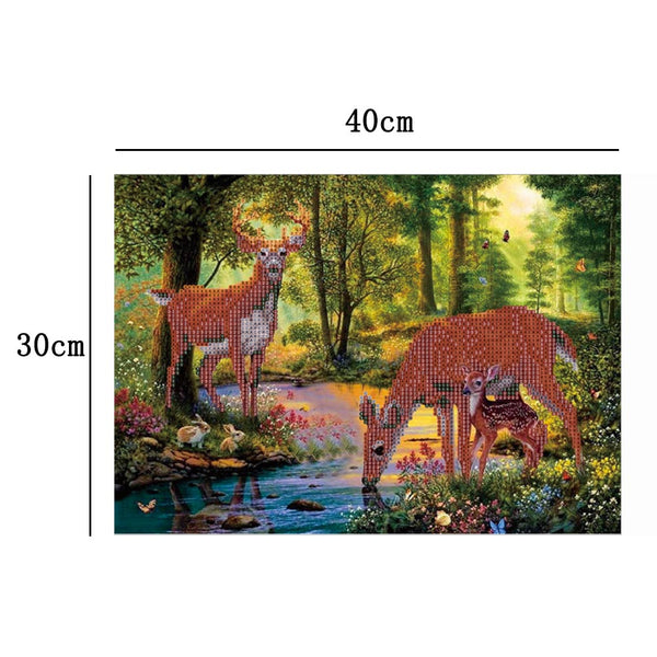 Wild Deer 5D DIY Partial Drill Round Drill Diamond Painting