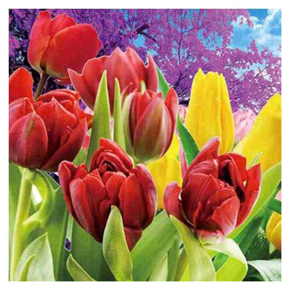 Tulip 5D DIY Partial Drill Round Drill Diamond Painting