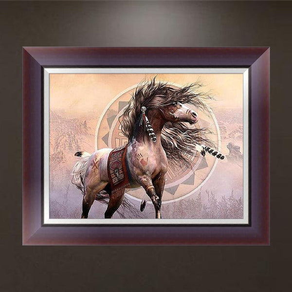 Horse 5D DIY Partial Drill Round Drill Diamond Painting