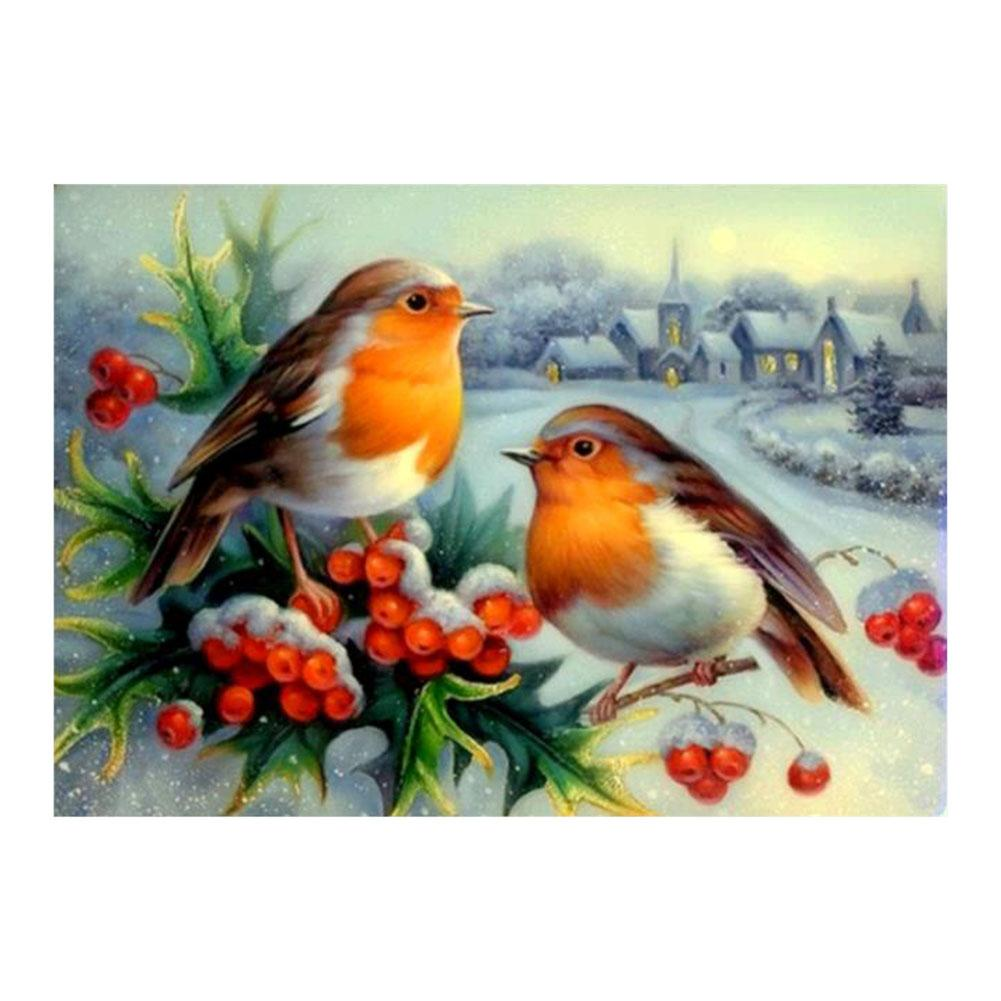 Birds 5D DIY Partial Drill Round Drill Diamond Painting