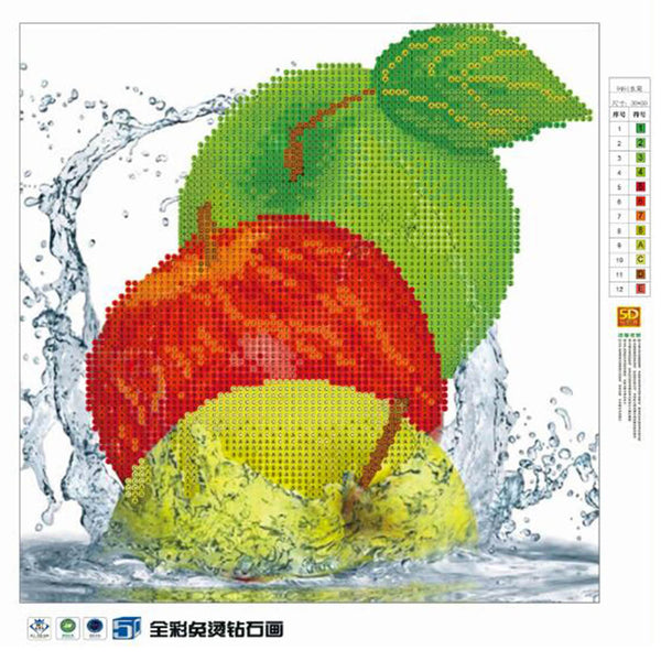 Fruit 5D DIY Partial Drill Round Drill Diamond Painting