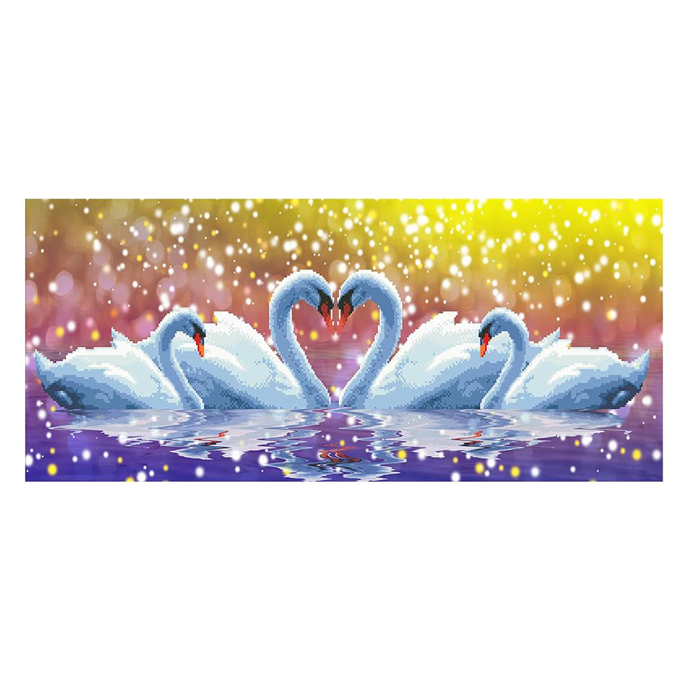 Two Swans 5D DIY Partial Drill Round Drill Diamond Painting