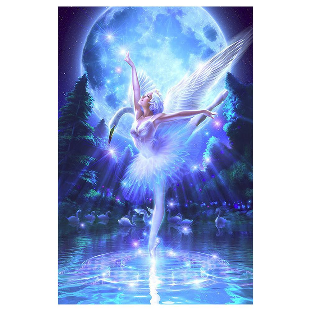 Ballet Swan Dancer 5D DIY Partial Drill Round Drill Diamond Painting